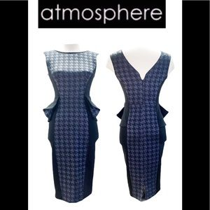 Atmosphere blue and black bodycon Dress size 8
